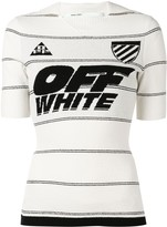 Off-White Off White logo fitted top