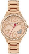 Betsey Johnson Women's Rose Gold-Tone Bracelet Watch 36mm BJ00607-03