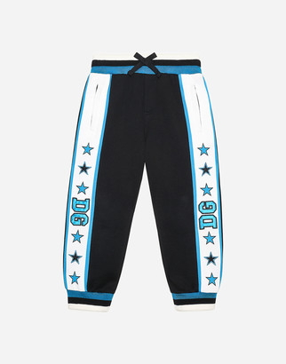 Dolce & Gabbana Jersey Jogging Pants With Patches And Stars