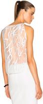 Michelle Mason Contrast Lace Top