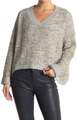 FAVLUX Sparkling V-Neck Sweater