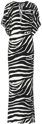 Norma Kamali Exclusive to Mytheresa Batwing-sleeve zebra-print dress