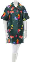 Marc Jacobs Silk Floral Print Jacket