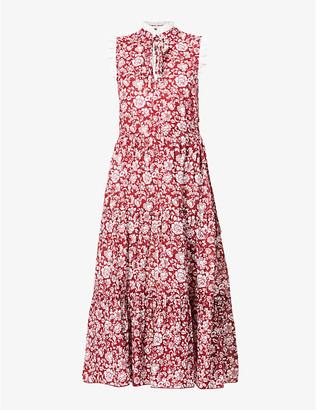 See by Chloe Floral-print cotton midi dress