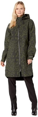 Ilse Jacobsen Print Raincoat (Army) Women's Coat