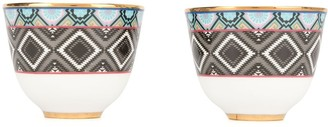 Shanghai Tang Ikat Chinese cups (set of 2)