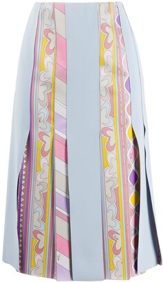 Emilio Pucci Graphic-Print Panelled Skirt