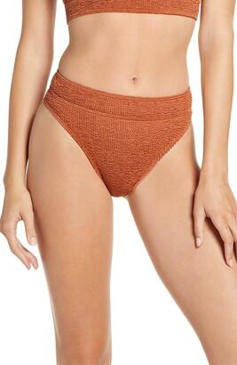 BOUND by Bond-Eye The Savannah High Cut Ribbed Bikini Bottoms