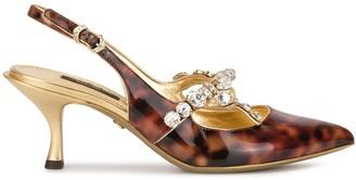Dolce & Gabbana embellished tortoiseshell pumps