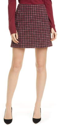 BOSS Veljara Modern Tweed Miniskirt