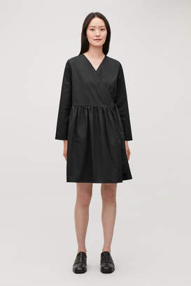 Cos PLEATED FOLD-OVER DRESS