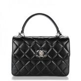 Chanel Black Lambskin Trendy CC Flap Ruthenium Hardware Kelly