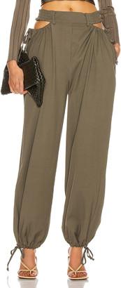 Dion Lee Gathered Tie Pant in Slate Green | FWRD