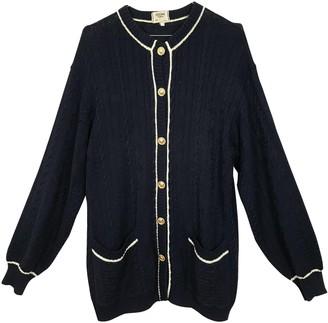 Celine Navy Cotton Knitwear for Women Vintage