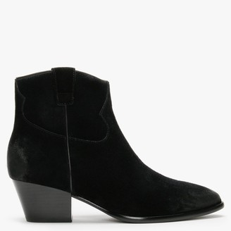 Ash Houston Black Suede Western Boots