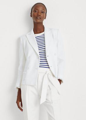Ralph Lauren Fringe-Trim Cotton Jacket