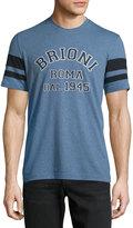 Brioni Monogram Crewneck T-Shirt, Sky Blue Solid