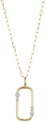 Phillips House 14K Yellow Gold & Diamond Box Link Pendant Necklace