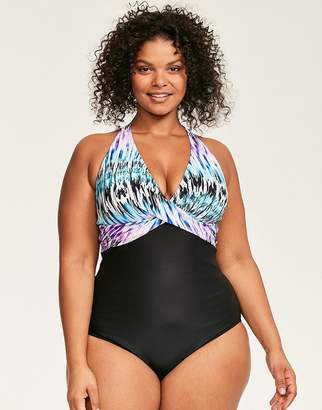 Figleaves Lima Curve Halter Twist Shaping Swimsuit