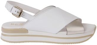 Hogan White Leather Sandals