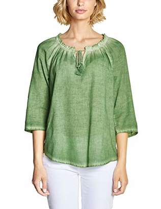 Street One Women's 3493 Blouse, (Salvia Green 106), (Size: 44)