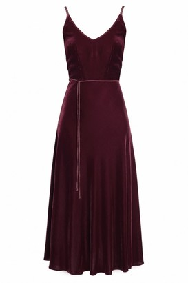 Undress Ariadne Purple Silk Velvet Mermaid Skirt Rope Trim Dress