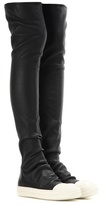 Rick Owens High Sock Leather Over-the-knee Boots