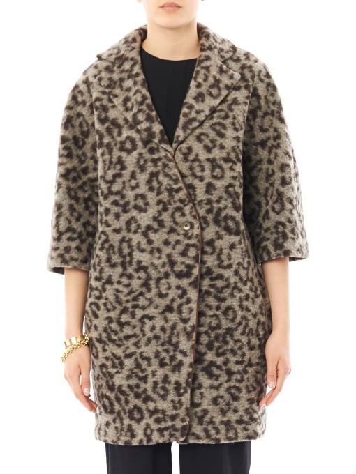 Thakoon Leopard knit coat
