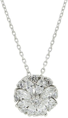 YEPREM 18kt White Gold Diamond Pendant Necklace