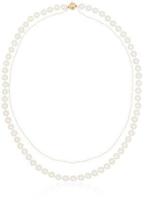 Sophie Bille Brahe 14kt Gold Layered Pearl Necklace
