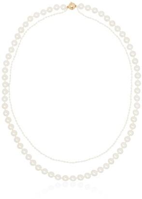 Sophie Bille Brahe 14kt gold layered pearl necklace