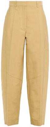 Victoria Beckham Cotton-blend Canvas Tapered Pants