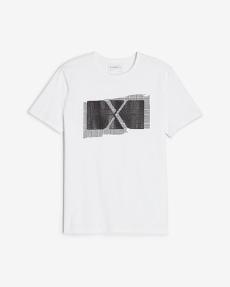 Express Plaid Logo Graphic T-Shirt