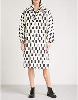 Junya Watanabe Marimekko checked-print cotton-canvas coat