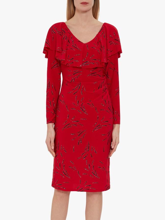 Gina Bacconi Suuri Frill Dress, Red