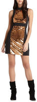 BCBGeneration Sequined Shift Mini Dress
