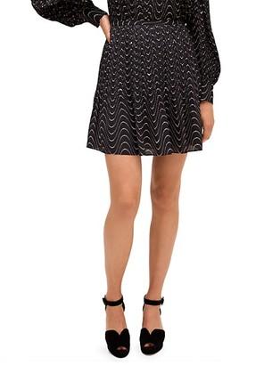 Kate Spade Wavy-Print Mini Skirt