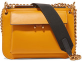 Marni Pocket Mini Two-tone Leather Shoulder Bag - Saffron