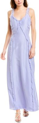 Jason Wu Ruffle Silk Maxi Dress