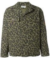 Saint Laurent leopard print jacket