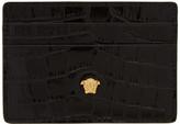 Versace Black Croc Medusa Card Holder