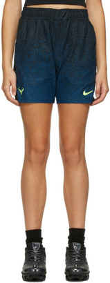 Nike Black and Blue Court Rafa 7 Shorts