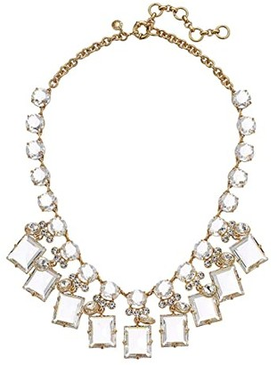 J.Crew York Square Necklace (Crystal) Necklace