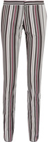 Giambattista Valli Striped Cotton-blend Twill Slim-leg Pants - Black