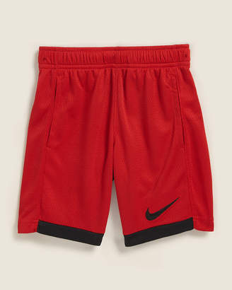 Nike Boys 4-7) Red 2-Tone Dri Fit Mesh Basketball Shorts