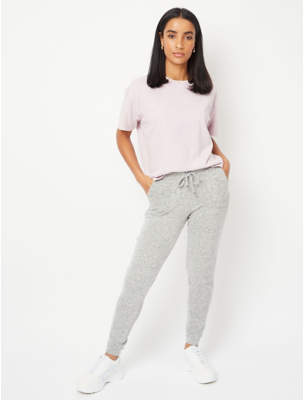 George Grey Marl Soft Touch Jogging Bottoms