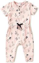 Petit Lem Baby Girls Newborn-6 Months Cactus-Print Short-Sleeve Romper