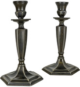 Rejuvenation Pair of Traditional Colonial Revival Candlestick Holders c1925