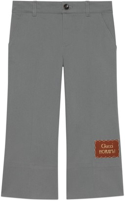 Gucci Children's gabardine trousers with label