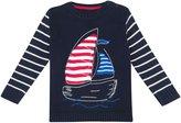 Jo-Jo JoJo Maman Bebe Boat Sweater (Baby) - Navy-12-18 Months
